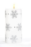 White Christmas candle Royalty Free Stock Images