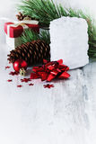 White christmas candle Stock Image