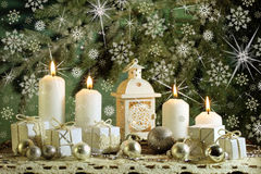 White christmas card Stock Images