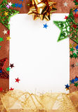 White Christmas card with decorations Stock Images