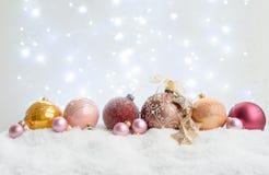 White Christmas com neve imagens de stock royalty free