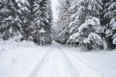 White christmas in czech republic stock photo