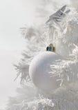 White christmas decoration Stock Photos