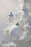 White christmas decoration Royalty Free Stock Photos