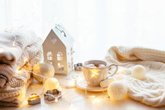 White Christmas decoration stock photos
