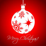 White christmas decoration on red background Royalty Free Stock Photography