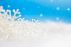 White christmas decoration. Selective focus royalty free stock photos