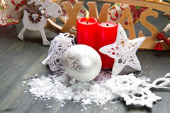 White christmas decoration Stock Photo