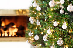 White Christmas decorations Royalty Free Stock Images