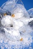 White Christmas decorations Royalty Free Stock Image