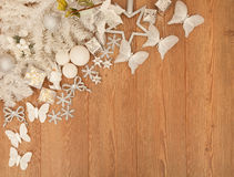 White Christmas decorations Royalty Free Stock Photo