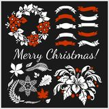 White Christmas design elements vector image royalty free illustration
