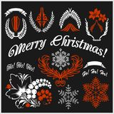 White Christmas design elements vector image vector illustration