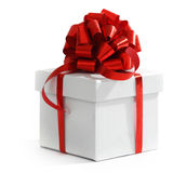 White christmas gift Royalty Free Stock Images