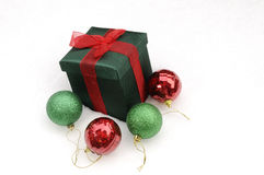 White christmas gifts Stock Image