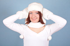 White christmas girl Royalty Free Stock Images