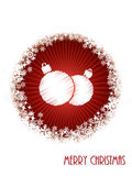 White christmas greeting card with bursting decoration from red Royalty Free Stock Photo