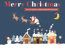 White Christmas Greeting Card Royalty Free Stock Images
