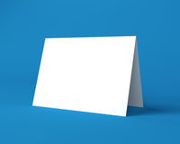 White Christmas Greeting Card On The Blue Background Stock Photography