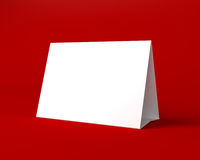 White Christmas Greeting Card on the Red Background Royalty Free Stock Images