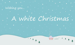 A white Christmas Stock Photo