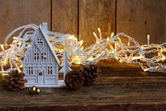 White christmas house Royalty Free Stock Images