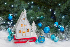 White christmas house Stock Image