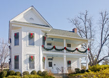 White Christmas House Under Blue Sky Stock Photography