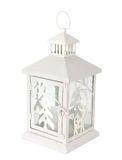 White christmas lantern Stock Images
