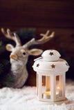 White Christmas lantern Stock Image