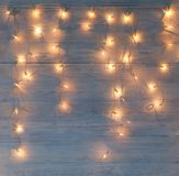 White christmas lights background Royalty Free Stock Image