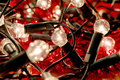 White christmas lights background Royalty Free Stock Images