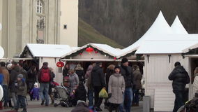 White christmas market stock video footage