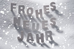 White Christmas Neues Jahr Means Happy New Year Snow, Snowflakes Stock Photos