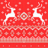 White christmas ornament on red background. Vector Royalty Free Stock Photo