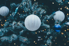 White Christmas ornaments Royalty Free Stock Image