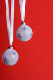 White christmas orniments Royalty Free Stock Images