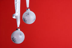 White christmas orniments Stock Photography