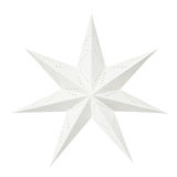 White Christmas paper star. White Christmas decoration paper star isolated on white background stock images