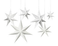 White Christmas paper stars Royalty Free Stock Photos