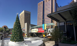 White Christmas in Phoenix Downtown, AZ Royalty Free Stock Photography