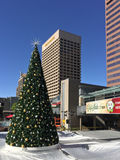 White Christmas in Phoenix Downtown, AZ Royalty Free Stock Image