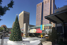 White Christmas in Phoenix Downtown, AZ Royalty Free Stock Photo