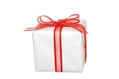 White christmas present Royalty Free Stock Image