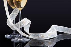 White christmas ribbon Royalty Free Stock Image