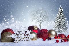 Free White Christmas Scene Concept Royalty Free Stock Photos - 104032658