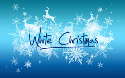 White Christmas snow background Stock Images