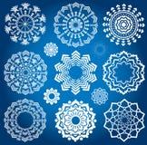 White christmas snowflake symbol Royalty Free Stock Photo