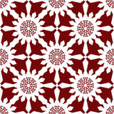 White Christmas snowflakes red seamless pattern Stock Photography