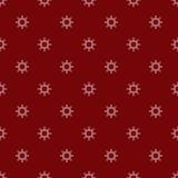 White Christmas snowflakes red seamless pattern Stock Photos